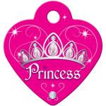 Dark Pink Princess Small Heart Quick-Tag