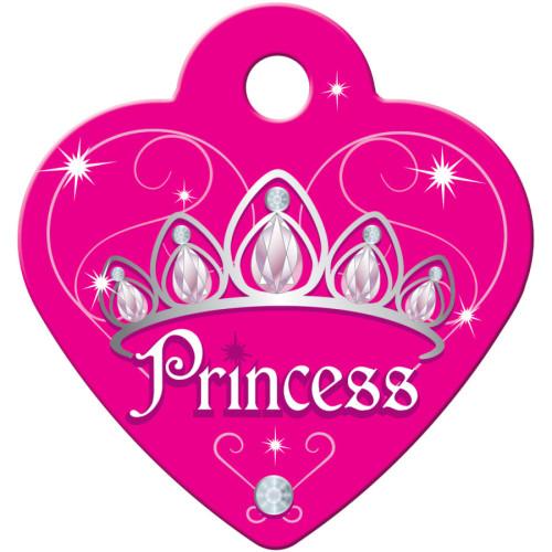 Dark Pink Princess Small Heart Quick-Tag 5 Pack
