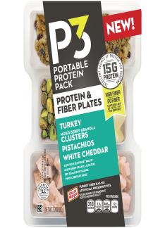 Oscar Mayer P3 Turkey, Mixed Berry Granola Clusters, Pistachios & White Cheddar Portable Protein Pack Tray, 3.2 oz