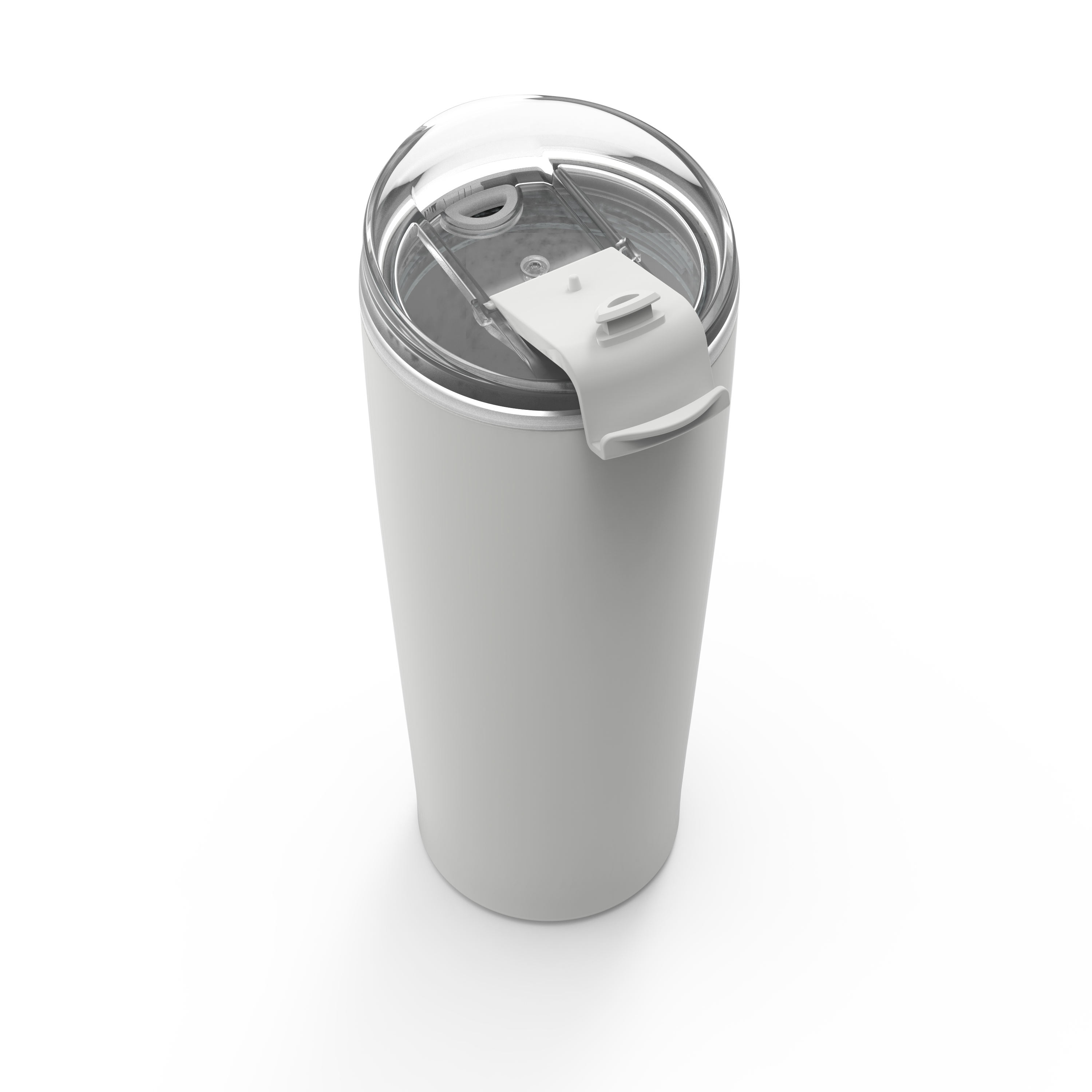 Aberdeen 24 ounce Vacuum Insulated Stainless Steel Tumbler, Gray slideshow image 3