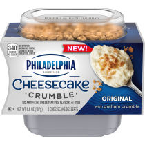 Philadelphia Cheesecake Crumble Original Cheesecake Desserts with Graham Crumble, 2 ct Pack