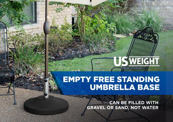 Fillable Free Standing Umbrella Base - Black 2