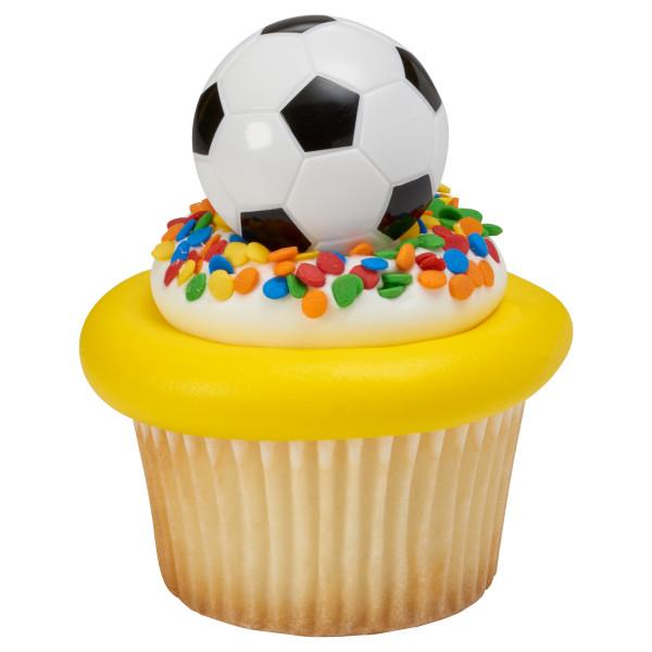 3D Soccer Ball Cupcake Rings