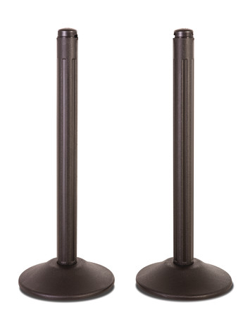 ChainBoss Stanchion - Black Empty with No Chain 1