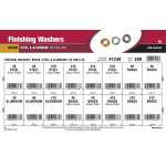 Brass, Steel, & Aluminum Finishing Washers Assortment (#6 thru #16)