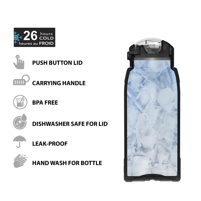 Genesis 32 ounce Stainless Steel Water Bottles, Indigo slideshow image 5