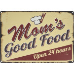 "Mom's Good Food Novelty Sign (10"" x 14"")"