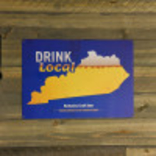 Aluminum Drink Local KY Beer Sign, 10