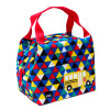 Grid Lock Purse Style Insulated Reusable Lunch Bag, Buses slideshow image 3
