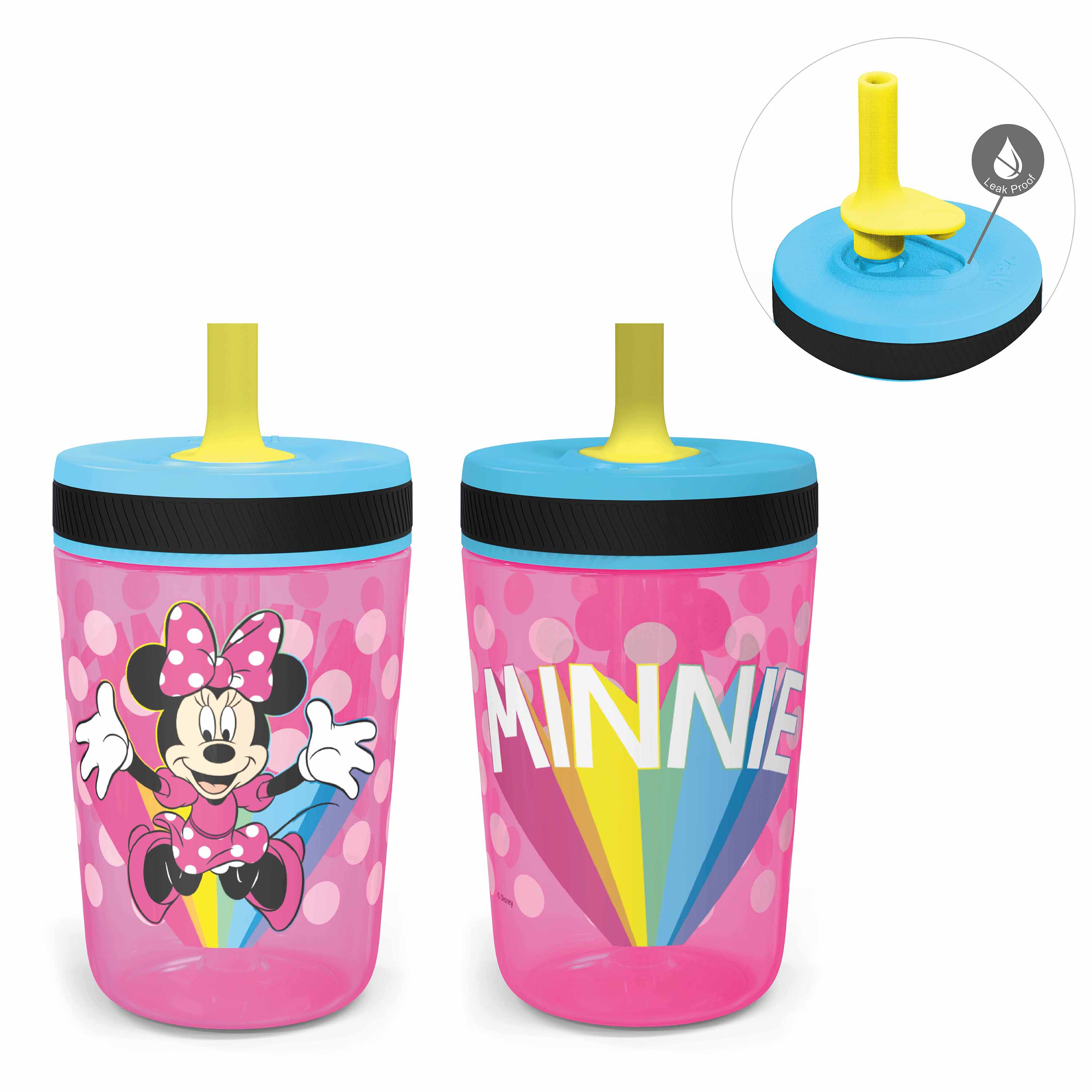 Disney 15  ounce Plastic Tumbler, Minnie Mouse, 2-piece set slideshow image 2