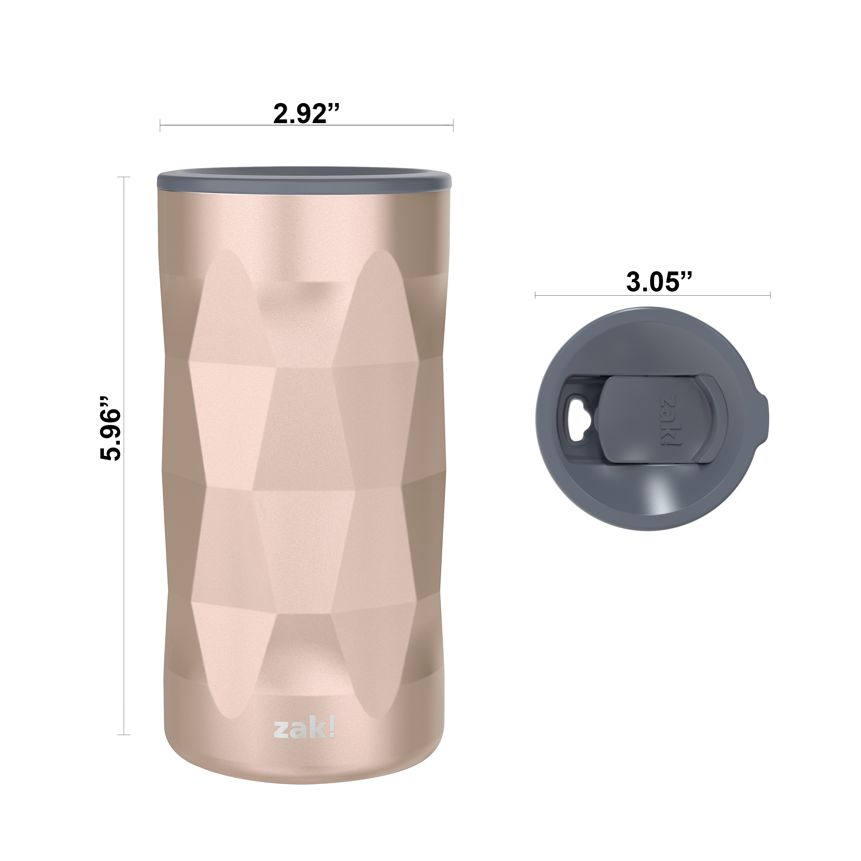 Fractal 12 ounce Vacuum Insulated Stainless Steel Tumbler, Rose Gold slideshow image 7
