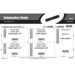 "Heat-Treated Automotive Studs Assortment (1/2"")"