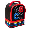 Grid Lock 2-compartment Reusable Insulated Lunch Bag, ABC slideshow image 2