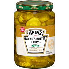 Heinz Bread & Butter Pickle Chips, 24 oz Jar image