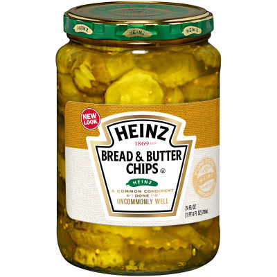 Heinz Bread & Butter Pickle Chips 24 oz Jar