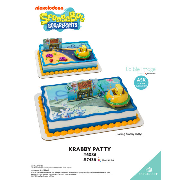 SpongeBob SquarePants™ Krabby Patty DecoSet® The Magic of Cakes® Page