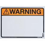 "Blank Warning Sign (10"" x 14"")"