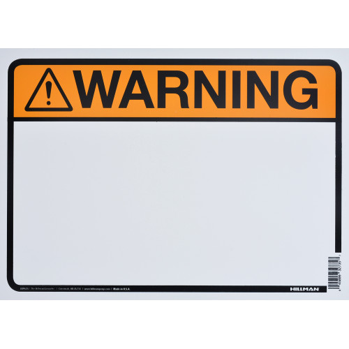 Aluminum Blank Warning Sign, 10