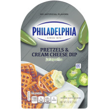 Philadelphia Pretzels and Jalapeno Cream Cheese Dip 2.52 oz Tray