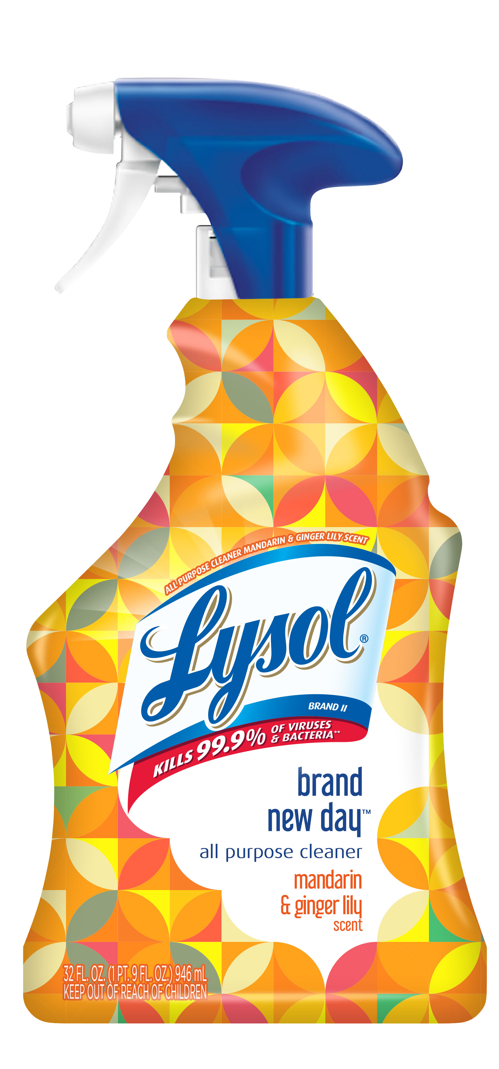 Lysol All Purpose Cleaner Spray Mandarin & Ginger Lily 32 oz Brand New Day
