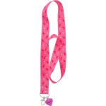 "Breast Cancer Awareness Lanyard With ""Hope"" Charm"