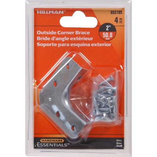 Hardware Essentials Outside Corner Brace Zinc 2