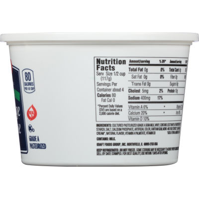 Kraft Small Curd Fat-Free Cottage Cheese 16 oz Tub