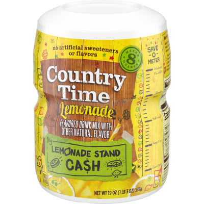 Country Time Lemonade Drink Mix 19 oz Jar