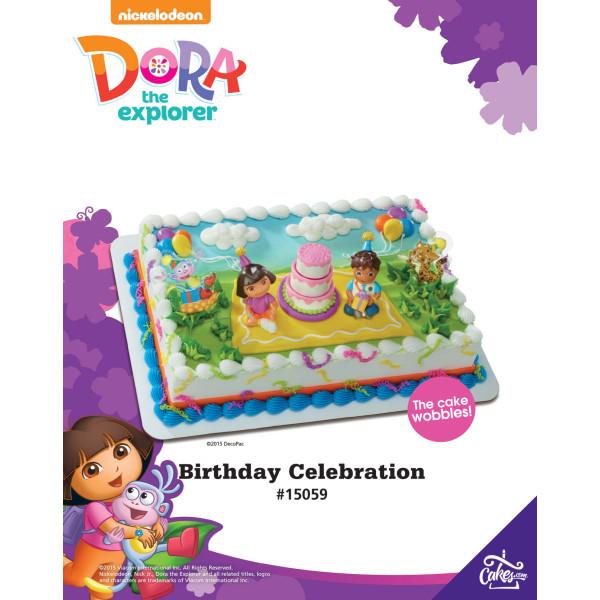 Dora the Explorer™ Birthday Celebration DecoSet® The Magic of Cakes® Page