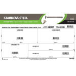 """Stainless Steel Carriage Bolts Assortment (1/4""""-20 Coarse Thread Longer Length Variants)"""