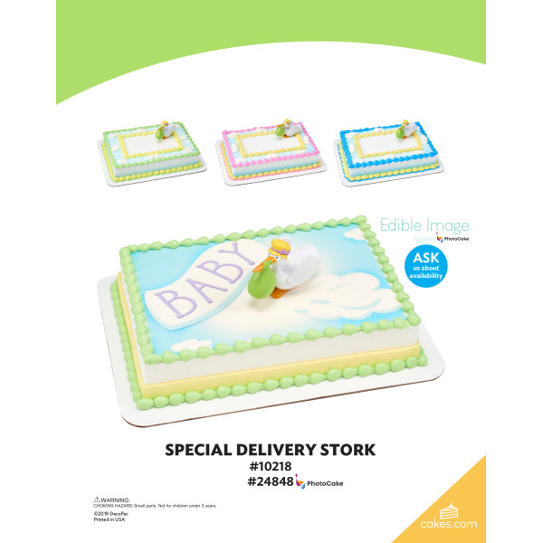 Special Delivery Stork DecoSet® The Magic of Cakes® Page