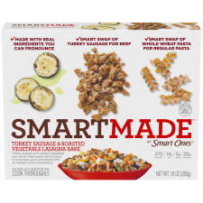 Smart Made Smart Ones Turkey Sausage & Roasted Vegetable Lasagna Bake 10 oz Box