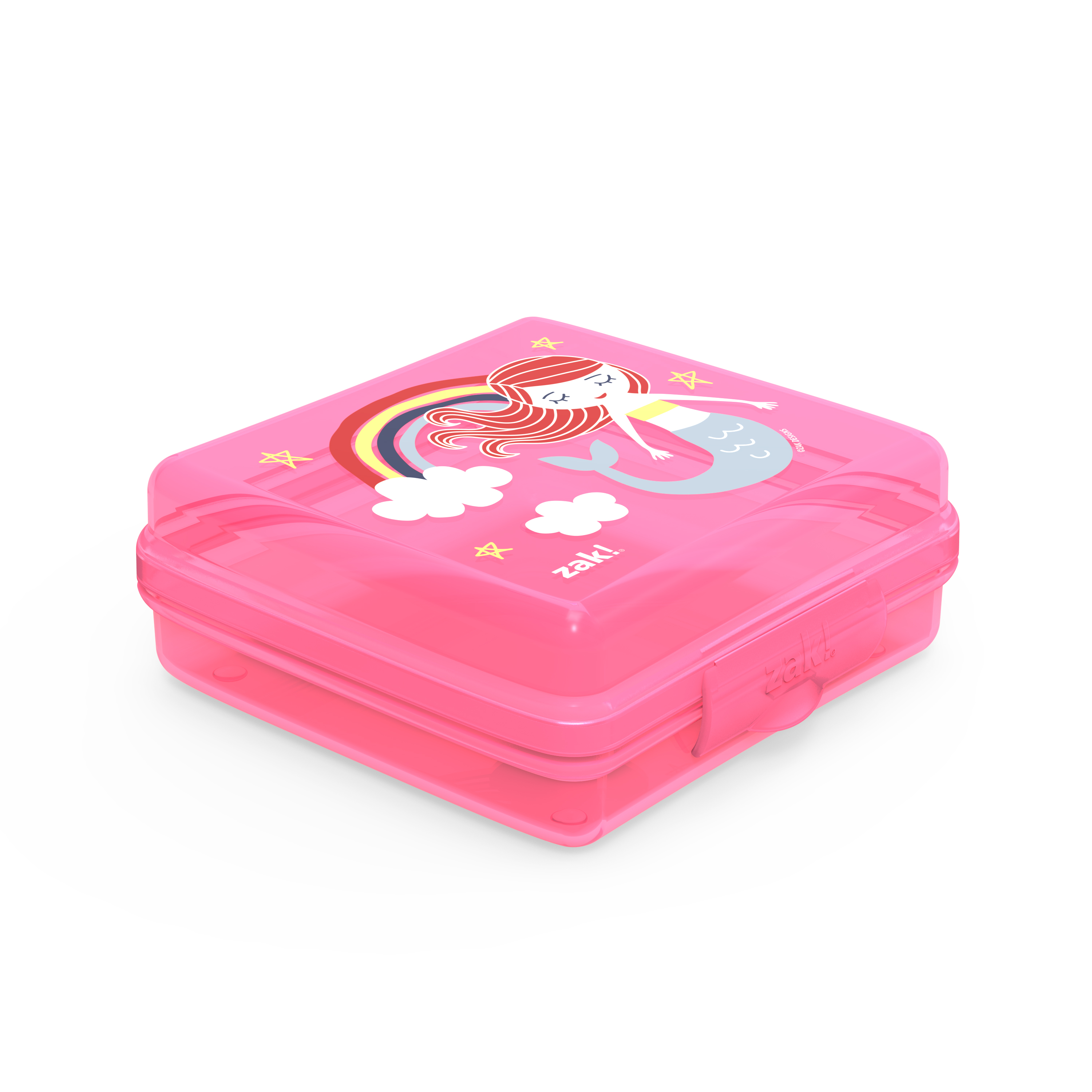Happy Things Reusable Hinged Food Container, Mermaids slideshow image 2