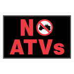 No ATV's Sign