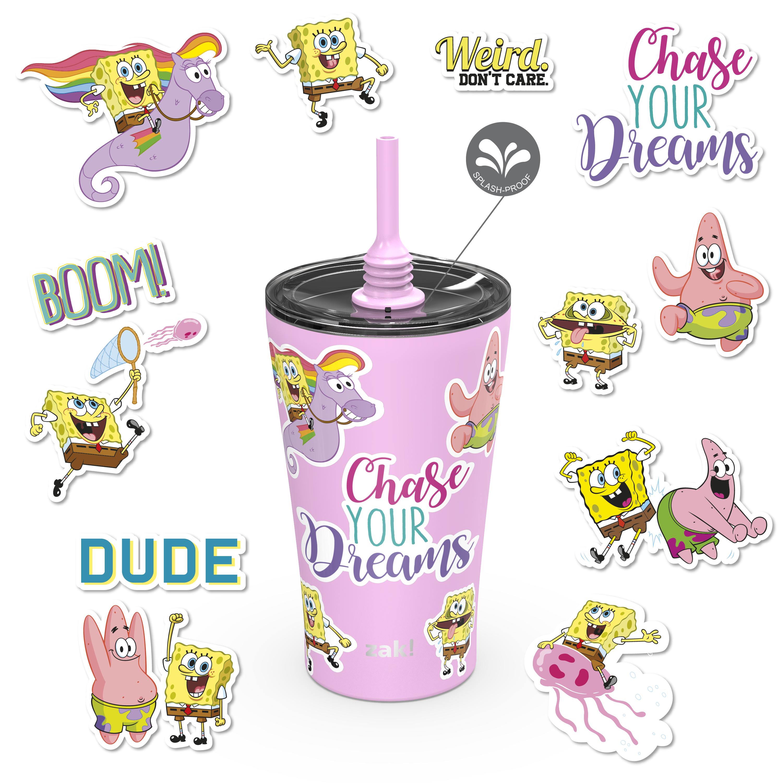 Nickelodeon 20 ounce Insulated Tumbler with Stickers, SpongeBob SquarePants slideshow image 1