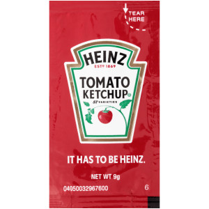 HEINZ Single Serve Ketchup, 9 gr. Sachets (Pack of 500) image