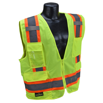 Radians SV6 Two Tone Surveyor Type R Class 2 Solid/Mesh Safety Vest