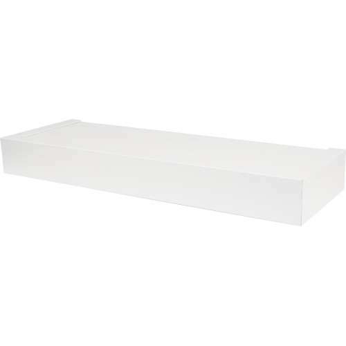 High & Mighty Floating Shelf Flat Design White 18