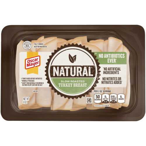 Oscar Mayer Natural Slow Roasted Turkey Breast 8 oz Tray