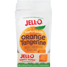 Jell-O Simply Good Orange Tangerine Gelatin Mix 3 oz Pouch