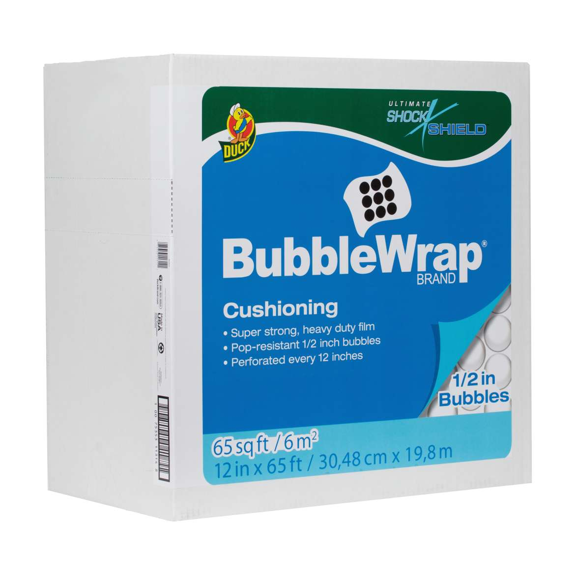 Shock Shield® Bubble Wrap® Cushioning - Clear, 12 in. x 65 ft. Image