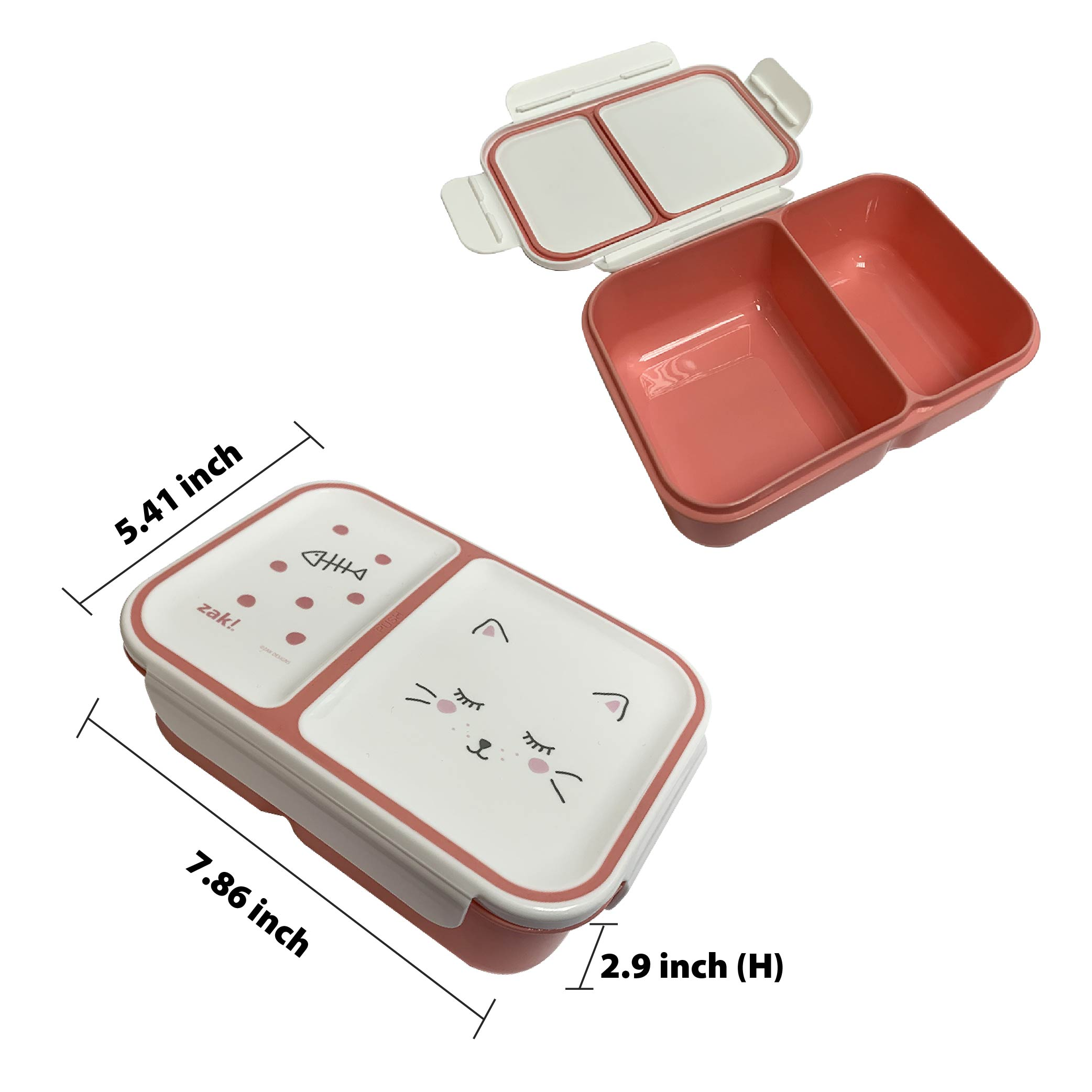 Soft Lines Dual-compartment Reusable Bento Box, Kitties slideshow image 6