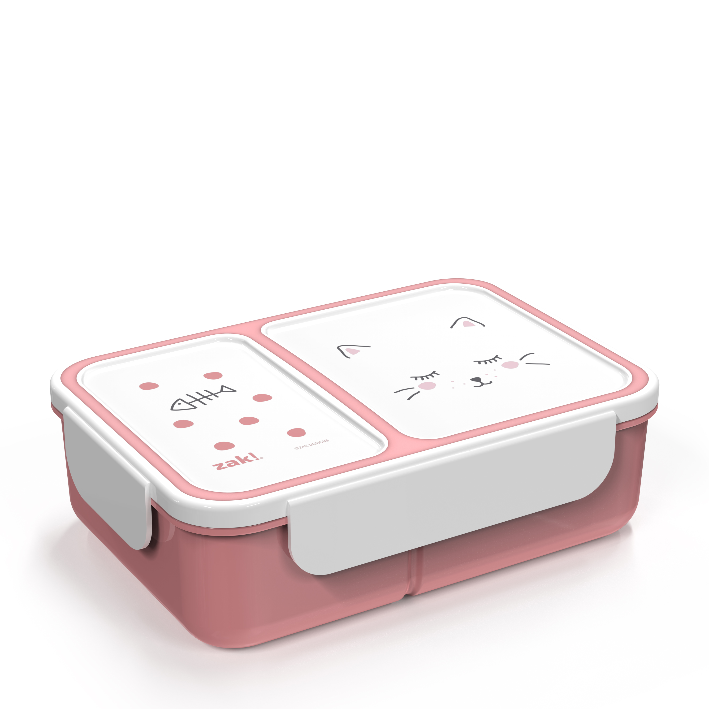 Soft Lines Dual-compartment Reusable Bento Box, Kitties slideshow image 3