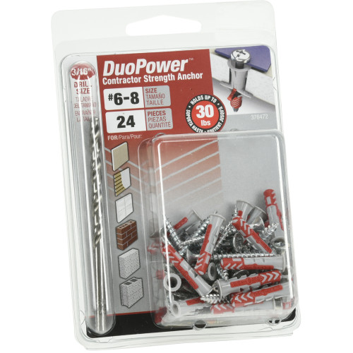 #6 DuoPower Contractor-Strength Anchors (XL-Pak)