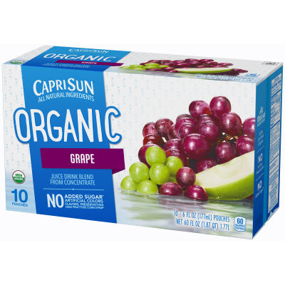 Capri Sun Organic Grape Juice Drink 10 - 6 fl oz Pouches