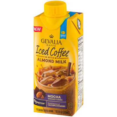 Gevalia Mocha Iced Coffee with Almond Milk 11.1 oz Jug