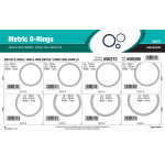 Nitrile Metric O-Ring Assortment (3mm, 4mm Width)