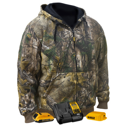 DEWALT® Unisex Heated Realtree Xtra® Camouflage Hoodie Sweatshirt Kitted