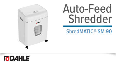 Dahle ShredMATIC® SM 90 Auto-Feed Shredder Video