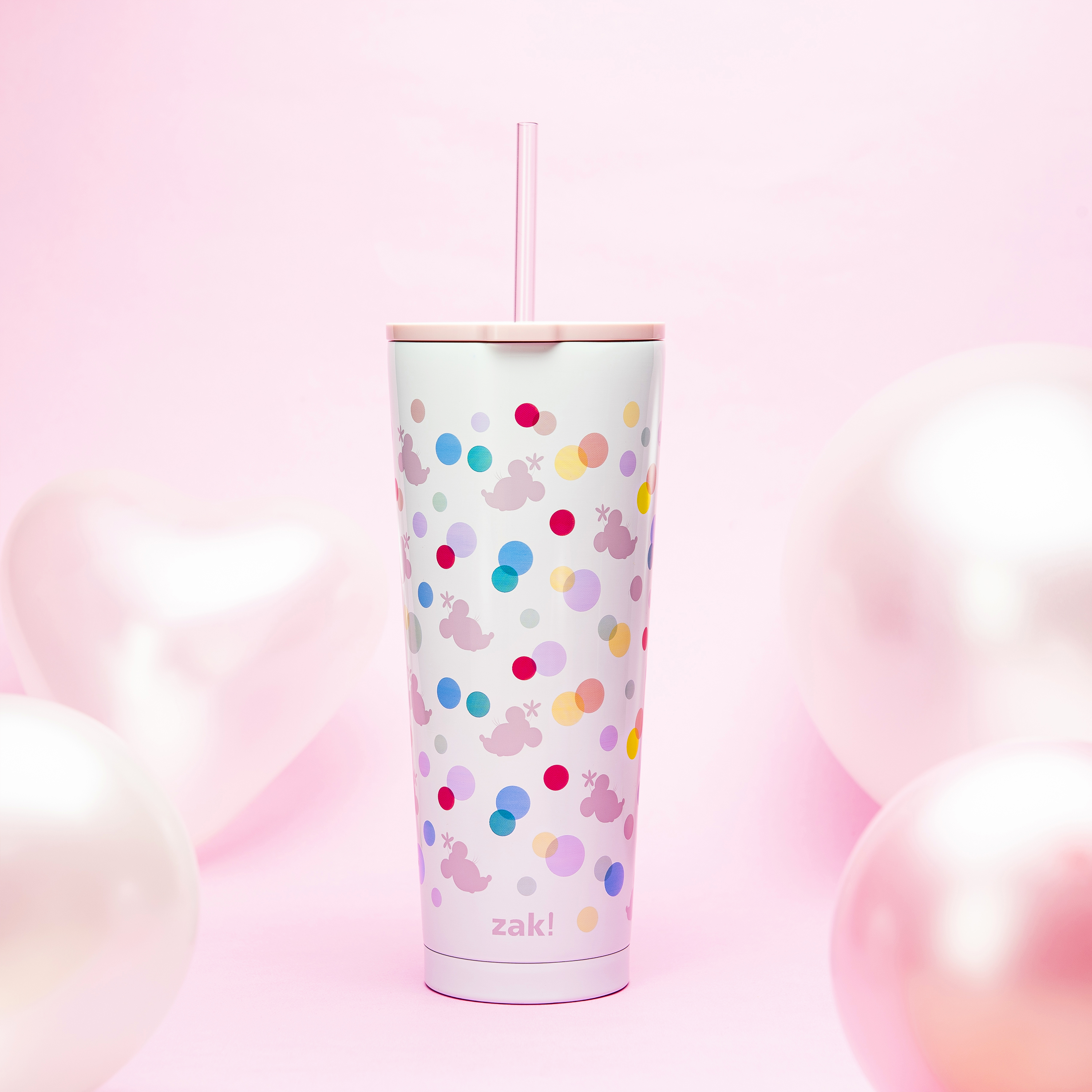 Disney 25 ounce Reusable Water Bottle, Minnie Mouse Polka Dots slideshow image 2